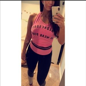 Mean Girls muscle tee, Wednesday's we wear pink